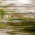 緑光の中、埼京線が行く