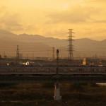 【Tokyo Train Story】夕暮れ時の多摩川を渡る京王線