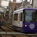【Tokyo Train Story】バイオレットと緑の都電が並んだ