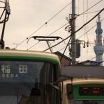 【Tokyo Train Story】都電荒川線三ノ輪橋電停からの東京スカイツリー