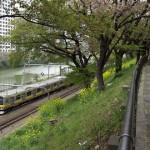 【Tokyo Train Story】外堀の遊歩道から
