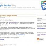 RSSリーダーのGoogleリーダーが2013年7月1日でサービス終了