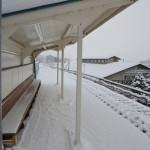 大雪の中陸羽東線で鳴子御殿湯駅から中山平温泉駅へ 冬の東北温泉巡りの旅 その19