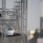 【Tokyo Train Story】東京スカイツリーを背景にして(東北新幹線)