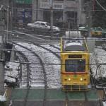 【Tokyo Train Story】雪の日の都電あかおび号