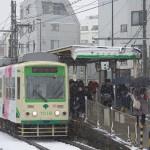 【Tokyo Train Story】雪の日の鬼子母神前電停にて(都電荒川線)