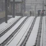 【Tokyo Train Story】雪の踏切を渡る(都電荒川線)