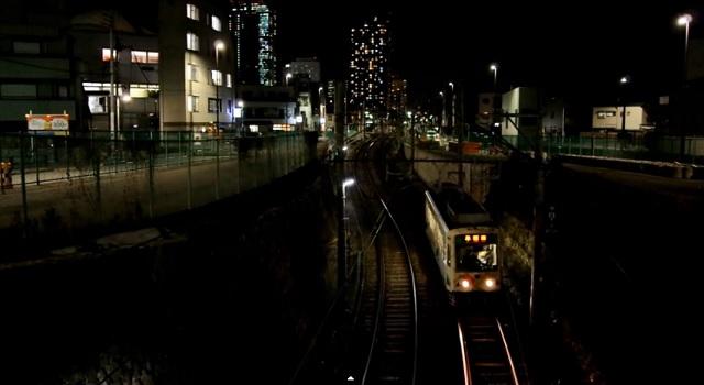 夜の都電荒川線をPENTAX K-3で撮影