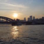 勝鬨橋を撮影