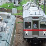【Tokyo Train Story】東急池上線のすれ違いを上から眺める
