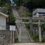 呉の鯛乃浦境内にある第六潜水艇殉難者之碑にそっと手を合わせる 広島県デスティネーションキャンペーンの旅 その27