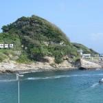 太海の高台から仁右衛門島を見下ろしてみる 夏の青春18きっぷの旅 たっぷり千葉県編 その15