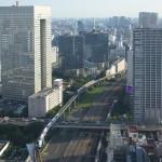 【Tokyo Train Story】浜松町の世界貿易センタービルから東京モノレールを見下ろす
