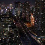 【Tokyo Train Story】浜松町の世界貿易センタービルからの夜景(東海道新幹線)