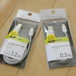 【初めてのiPhone】外出先などでiPhoneの充電に使用するために素敵な笑顔がプリントされたLightning – USBケーブルを2本購入した