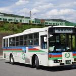 万座・鹿沢口駅から万座プリンスホテルまで高原を走るバスに乗車する 群馬県万座温泉の旅 その3