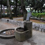 世田谷区立若林公園にある不恰好な井戸ポンプ