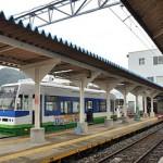 凸型電気機関車のデキ3が待機していた木造駅舎の福井鉄道北府駅 初秋の北陸旅 その23