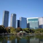 浜離宮恩賜庭園で青空の下お茶をいただく 秋の東京散歩 その4