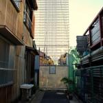 あの月島の長屋の一部が取り壊されていた 秋の東京散歩 その5