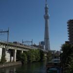 【Tokyo Train Story】青空の下の東京スカイツリー(東武スカイツリーライン)