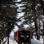 冬の津軽鉄道名物、ストーブ列車に乗車する 冬の青森秋田紀行 その8