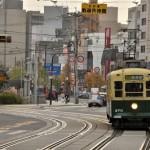諏訪神社からの市電風景と狛犬 長崎旅行 その26