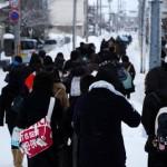 モダンな建物があちこちにある五能線木造駅周辺を散策する 冬の青森秋田紀行 その12