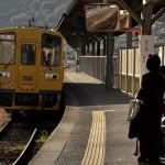 黄色いディーゼルカーの島原鉄道に乗車する 長崎旅行 その31