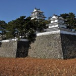 島原城から島原鉄道を撮影する 長崎旅行 その33