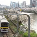 【Tokyo Train Story】桜咲く外堀は都内随一の鉄道風景だろう(総武線)