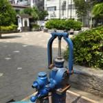 文京区本駒込2丁目 駕籠町公園の井戸ポンプ