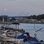 尾道で見る月と広島の季節料理こだちでの穴子のお刺身など 広島尾道満喫の旅 その27