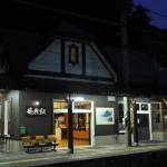 夜の篠ノ井線姨捨駅で夜景と花火見物をする 夏の白馬・姨捨旅行 その15