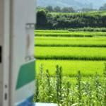 真夏の暑さの中、非冷房の福島交通飯坂線に乗車する 宮城福島紀行 その11