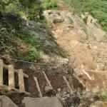 烏尾山前後の鎖場あり、はしごありの難コース ヤビツ峠から塔ノ岳への表尾根縦走コース その5
