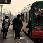 真岡鐵道の車内からSL列車と再会する 下館へ行こう! その16
