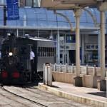 松山市駅で坊っちゃん列車の出発準備を見学する 四国初上陸の旅 その15