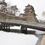 雪と氷の高島城を見学する 冬の諏訪湖への旅 その8