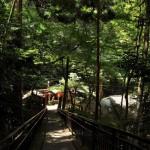 稲荷山登山のラストはきつねうどん 夏の京都旅行2012 その35