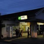 夜の鶴見線の安善駅と大川駅を訪問する 夏の青春18きっぷの旅2011 鶴見線編 その6