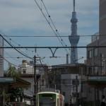 東京スカイツリーとジョイフル三の輪 都電撮影フォトウォークin8月 その3