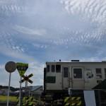 烏山線下野花岡駅周辺で烏丸線の国鉄色の車両を撮影する 夏の青春18きっぷの旅2011 烏山線編 その3