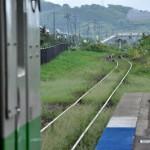 海沿いの小さな駅である江差駅 男一匹道南青森の旅 その17