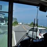 未成線の大間線の遺構をバスの中から撮影する 男一匹道南青森の旅 その24