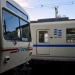 叡山電鉄で雪が残る鞍馬駅へ 春の京都紀行 その10