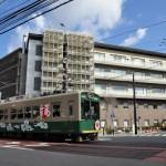 路面区間の嵐電を撮影する 春の京都紀行 その15