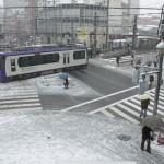 【Tokyo Train Story】雪の日に町屋駅前を俯瞰する(都電荒川線)