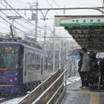 【Tokyo Train Story】雪の日の町屋駅前電停(都電荒川線)