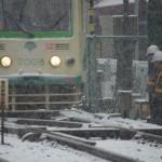 【Tokyo Train Story】雪の日の保線員(都電荒川線)